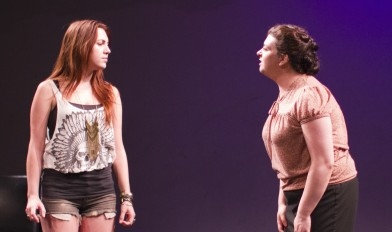 five sided triangle by Gina Femia directed by Megan Kosmoski at Dixon Place NYC